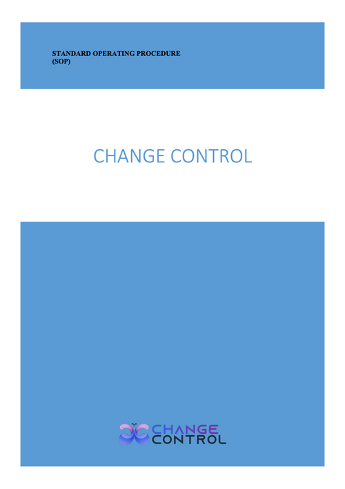 The Most Effective Change Control SOP Template for Your Organization